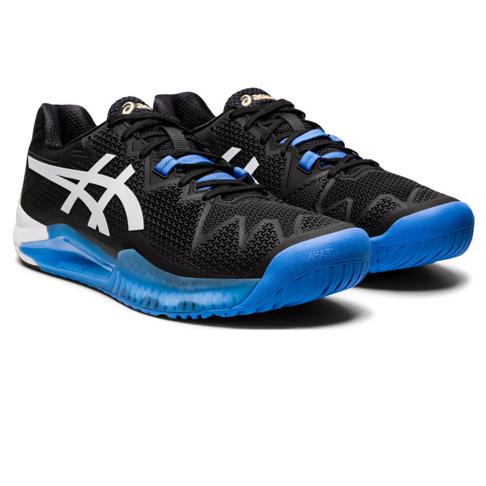 Gel - Resolution 8 Court Shoes For Men - Black Tennis Shoes